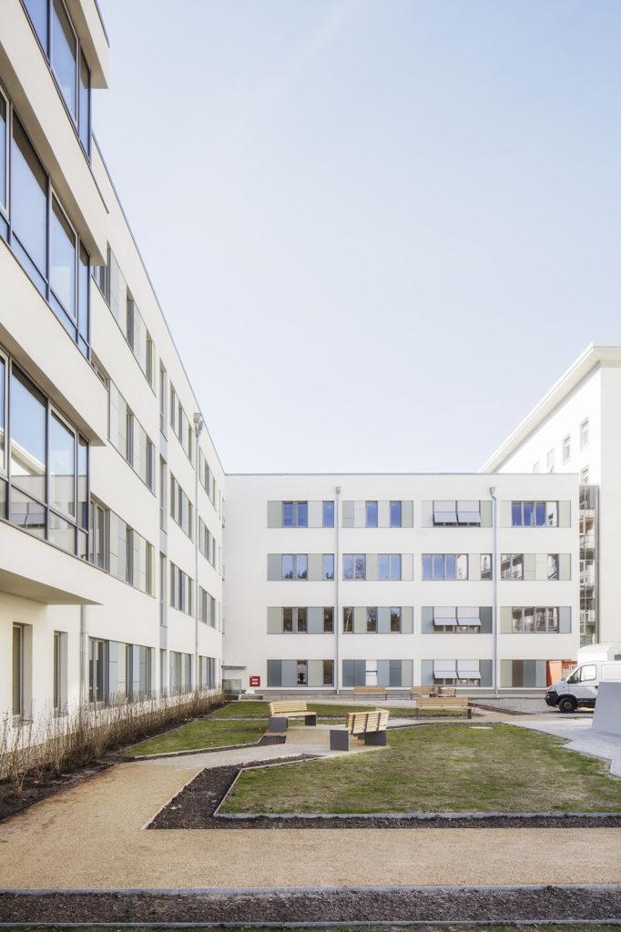 Neubau Bettenhaus Klinikum Hennigsdorf Aussenanlagen